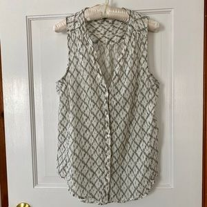 Paige sleeveless cotton top